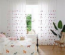 Naturer Vorhang Kinderzimmer Mädchen Lang