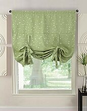 Naturer Vorhang Stern Fenstersiebung Raffrollo
