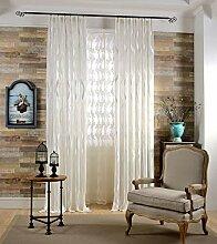 Naturer Weiß 2er Set Vorhang Wohnzimmer