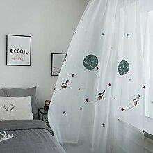 Naturer Weiß Vorhänge Transparent Kinderzimmer