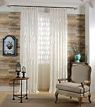 Naturer Weiß Vorhang Transparent Kräuselband 2er