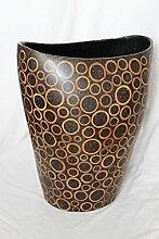 Naturesco exotische Vase Blumenvase Bambus H - 36cm