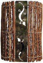 Naturesco Exotische Wandlampe aus Zweigen, Holz