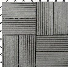 Naturesort n4-otm8g 8-slat Bambus Composite Deck Fliesen, grau