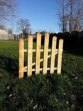 naturholz-shop Holztor Gartentor Staketenzaun Tor geschwungen 0,90 cm x 0,90 cm