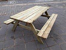 naturholz-shop Picknicktisch Bierbank 180 cm
