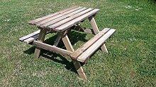 naturholz-shop Picknicktisch Kinder Holz