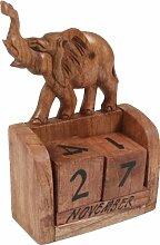 Naturholz Würfelkalender `Elefant-up` / Kindermöbel, Deko