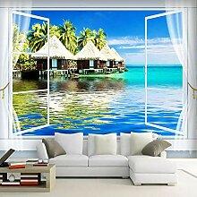 Naturlandschafts-Küsten-Fenster,Vliestapete -