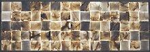 Naturstein-Mosaik/Mosaikfliese aus Marmor als Wandstein/Steinwand/Verblendstein | Wandverkleidung für Bad, Küche, Diele oder Wohnzimmer aus Naturstein I 9 lose Mosaiksteine ELEGANCE VIOLET mit je 9,5cm x 9,5cm x 1,5cm (Beige-Violet)