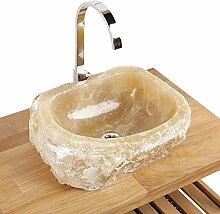 Naturstein Onyx Waschbecken Waschschale