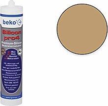 Naturstein-Silikon, Sanitär-Silikon, Premium Universal Silikon, Spiegel-Kleber (hellbraun/buche-hell)