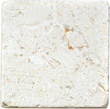 Natursteinfliesen Limestone Allerona Weiss 10x10cm