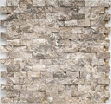 Natursteinmosaik Fliesen braun brick Wand Boden
