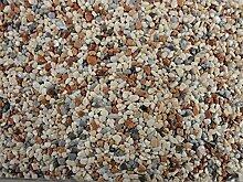 Natursteinteppich-Fliese Classic Line Mix Milano - flexible Bodenfliese für Innen und Außen aus italienischem Marmorkies, Teppichfliese, Marmorteppich, Terassenboden, Poolumrandung - 1m² Paket (4 Stück 50x50 cm)