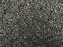Natursteinteppich-Fliese Classic Line Nero Ebano schwarz - flexible Bodenfliese für Innen und Außen aus italienischem Marmorkies, Teppichfliese, Marmorteppich, Terassenboden, Poolumrandung - 1m² Paket (4 Stück 50x50 cm)