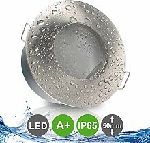 NAUTIC IP65 1er Set ultra flach LED 5W = 50W 230V