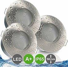NAUTIC IP65 3er Set ultra flach LED 5W = 50W 230V