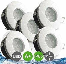 NAUTIC IP65 5er Set ultra flach LED 5W = 50W 230V