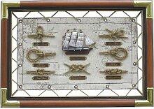 Nautic Spezial MV Knotentafel 47x33 cm Knotennamen