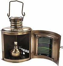 Nauticalia Steuerbord-Lampe, antik, 21 cm