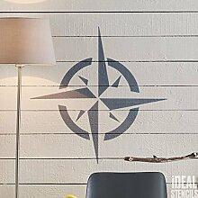 Nautisch Stern Schablone wiederverwendbar Home Nautisch Dekor Schablone Wandfarbe Stoffe & Möbel - halb transparent Schablone, Multipack XS/S/M