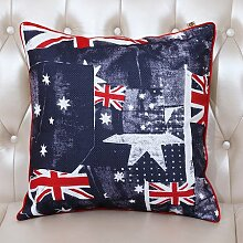 NAUY- British American Kissen Nachttisch Sofa Kissen Bett Kissen Büro Auto Lendenwirbelkissen ( Farbe : 43*43cm (with core) )