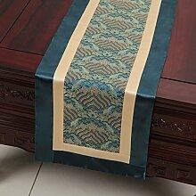 NAUY- Chinesische Art und Weise Einfache Moderne Garten-Bett-Markierungsfahnen-Kabinett-Markierungsfahne ( Farbe : Blau , größe : 33*180cm )