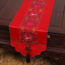 NAUY- Chinesische Jade-Garten-Hirten- ( Farbe : Rot , größe : 33*230cm )