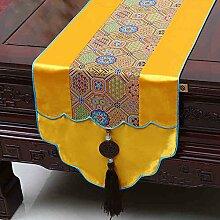 NAUY- Chinesische Jade-Garten-Hirten-Markierungsfahne Mittelmeer-Tabellen-Kaffeetisch-Markierungsfahnen-Bett-Markierungsfahnen-Tee-Tabellen-Flaggen-Kabinett-Flagge ( Farbe : #2 , größe : 33*180cm )