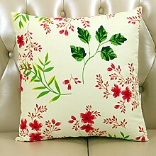 NAUY- Kissen Sofa Pastoral Segeltuch Kissen Büro Taille Kissen Auto Taille Kissen Bett Kissen ( größe : 30*50cm(with core) )