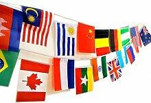 navadeal 5020,3x 30,5cm Welt Flagge-Nationalpark Combo zum Aufhängen Land Euro Tasse Olympischen Spiele Spor