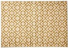 Navaei & Co 18C Teppich, Material Kunststoff, Hellblau Gold, 195x 140x 2cm