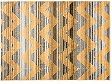 Navaei & Co 22A Teppich, Material Kunststoff, Hellblau Gold, 150x 80x 2cm
