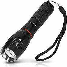 Navaris 1x LED Taschenlampe - extrem hell mit Zoom