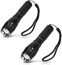 Navaris 2x LED Taschenlampe - extrem hell mit Zoom
