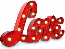 Navaris LED Schriftzug LOVE Dekoleuchte -