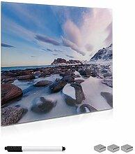 Navaris Memoboard Glas 50x50cm Magnettafel - Tafel