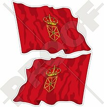 NAVARRE Wehende Flagge SPANIEN Navarra, Navarra