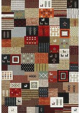 Nazar 814110Ethno 814Teppich, Ethno-Motiv, synthetisches Material, mehrfarbig, mehrfarbig, 170x120x1,3 cm