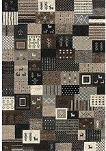 Nazar 81670Ethno 816Teppich Ethnische, Motiv Hardware Kunstleder grau, grau, 150x80x1,3 cm