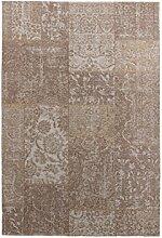 Nazar Berlin Teppich, Polyester Baumwolle, beige,