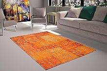 Nazar Berlin Teppich, Polyester Baumwolle, orange,