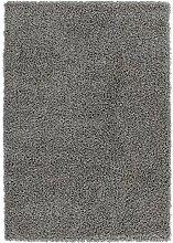 Nazar Moderne Teppich Shaggy uni Soft PU anthrazit, anthrazit, 150x80x3 cm