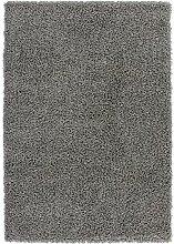 Nazar Moderne Teppich Shaggy uni Soft PU anthrazit, anthrazit, 160x120x3 cm