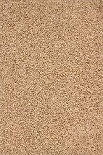Nazar Moderne Teppich Shaggy uni Soft PU beige 160x 120x 3cm