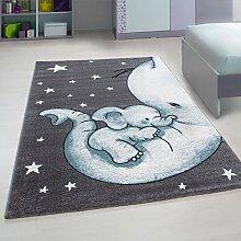 Nazar Teppich für Kinderzimmer, Motiv Elefant in