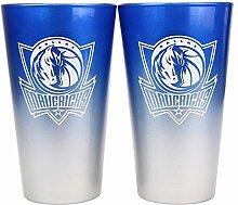 NBA Dallas Mavericks Glas-Set, 473 ml, 2 Töne