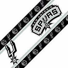 NBA San Antonio Spurs Bordüre selbstklebend Basketball Team Logo Bordüre