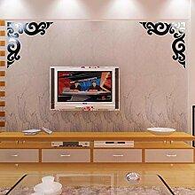 NBBLSQ Abziehbild TV Hintergrund Wand Diagonale